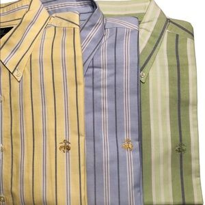 Lot of 3 brooks Brothers Men's shirts L with Logo